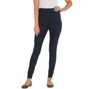 M Legacy Brushed Jersey Legging Blue Black Cheetah